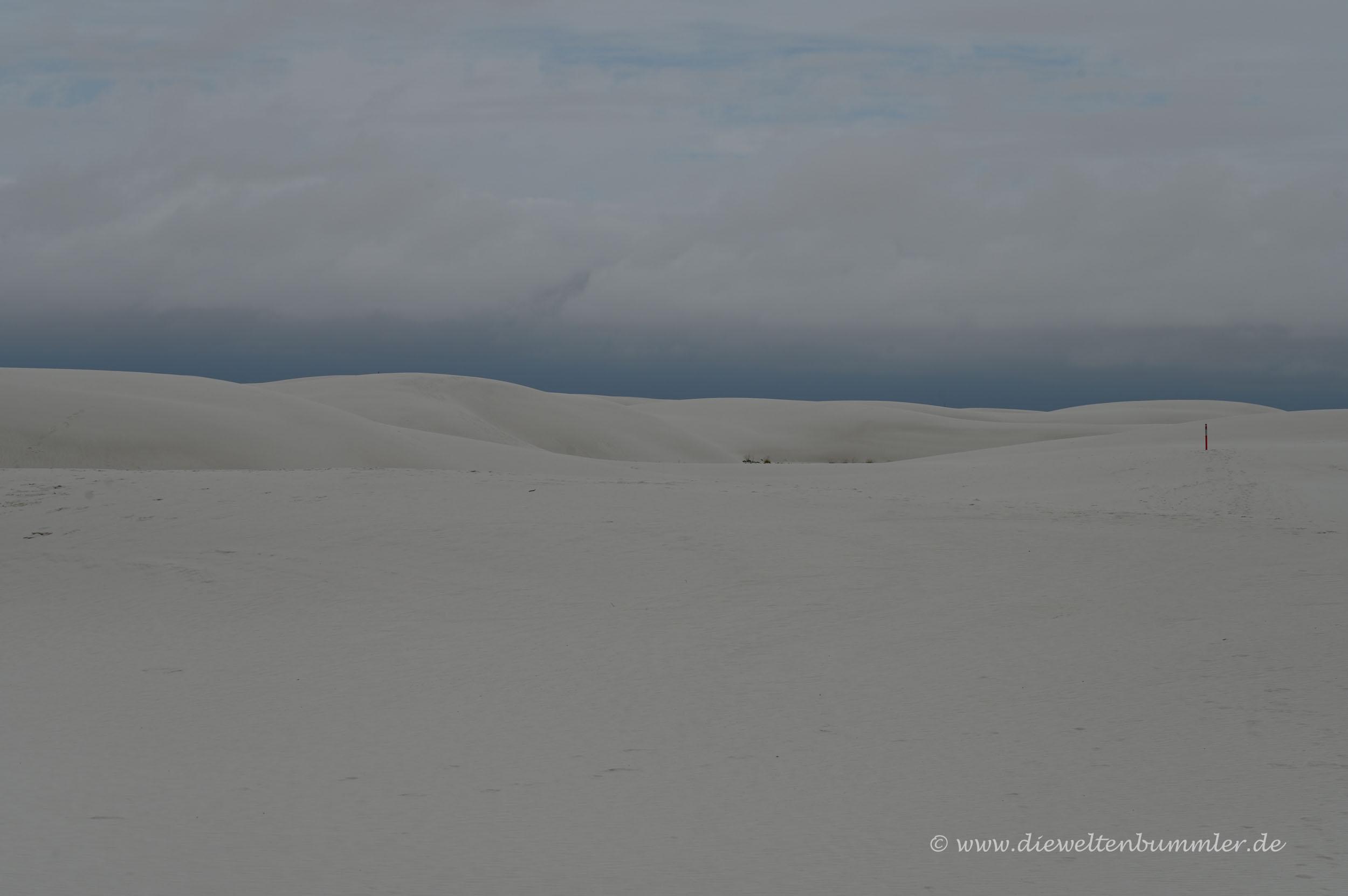 Regenwolken über der Wüste