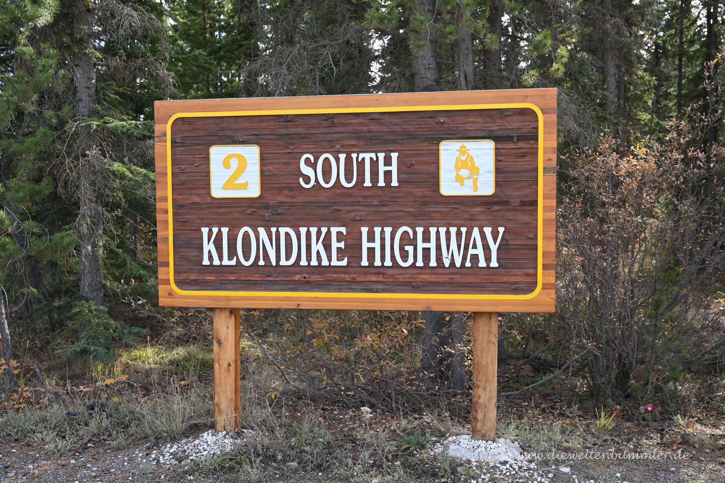 Willkommen auf dem South Klondike Highway