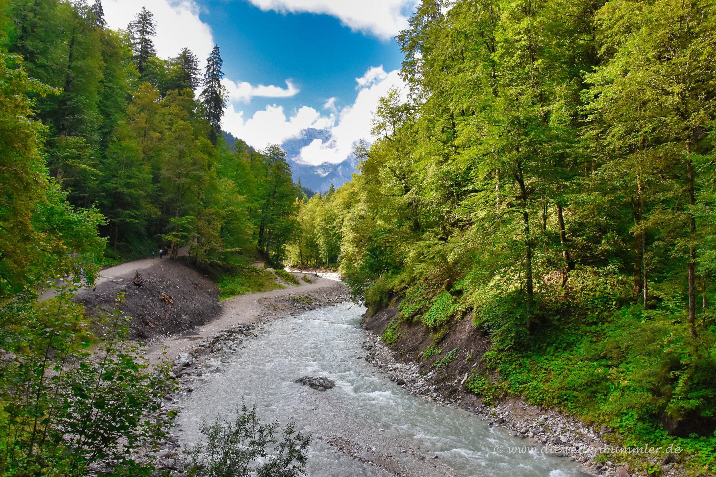Blick in Richtung Zugspitze