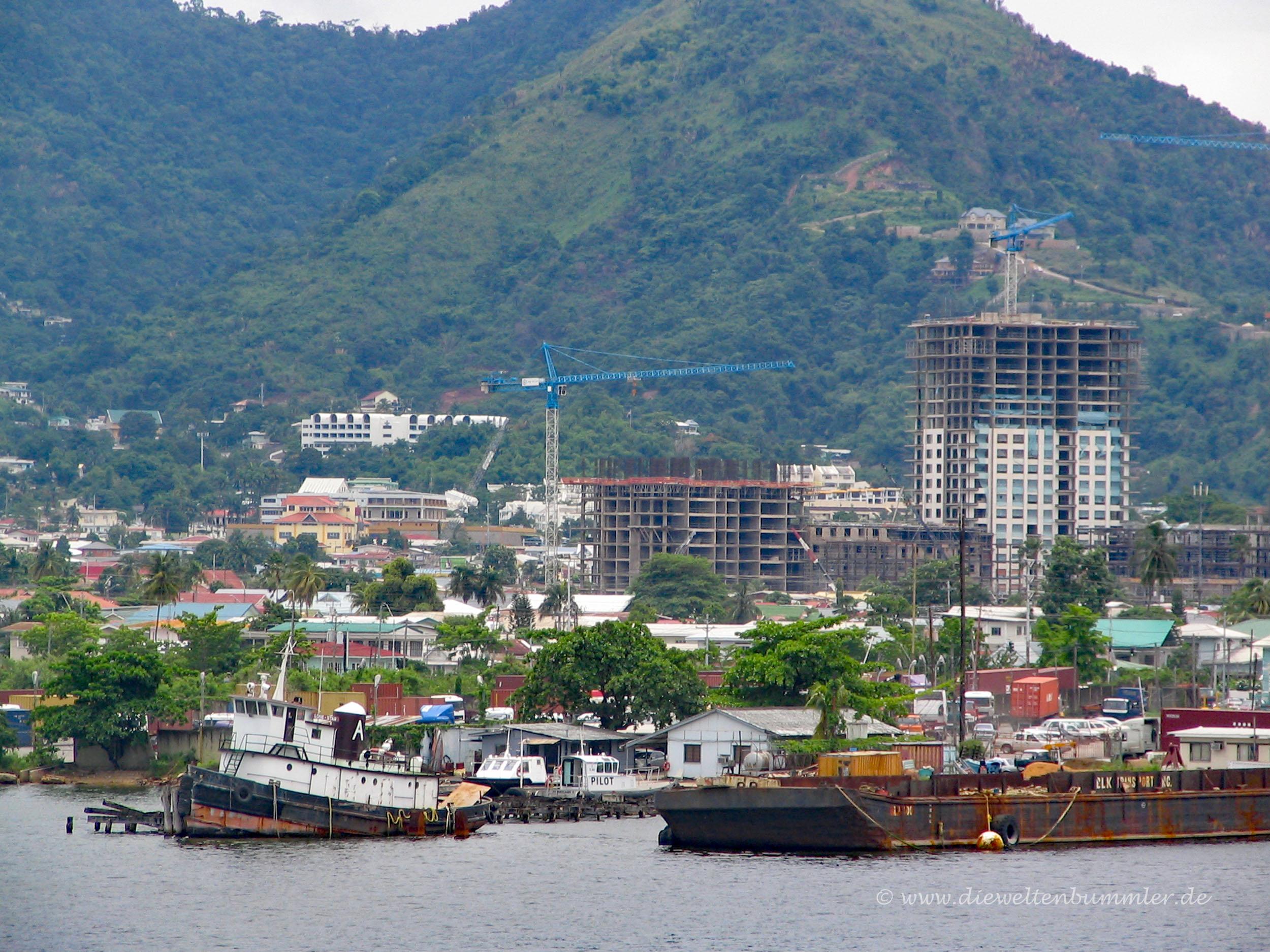Damalige Skyline von Port-of-Spain