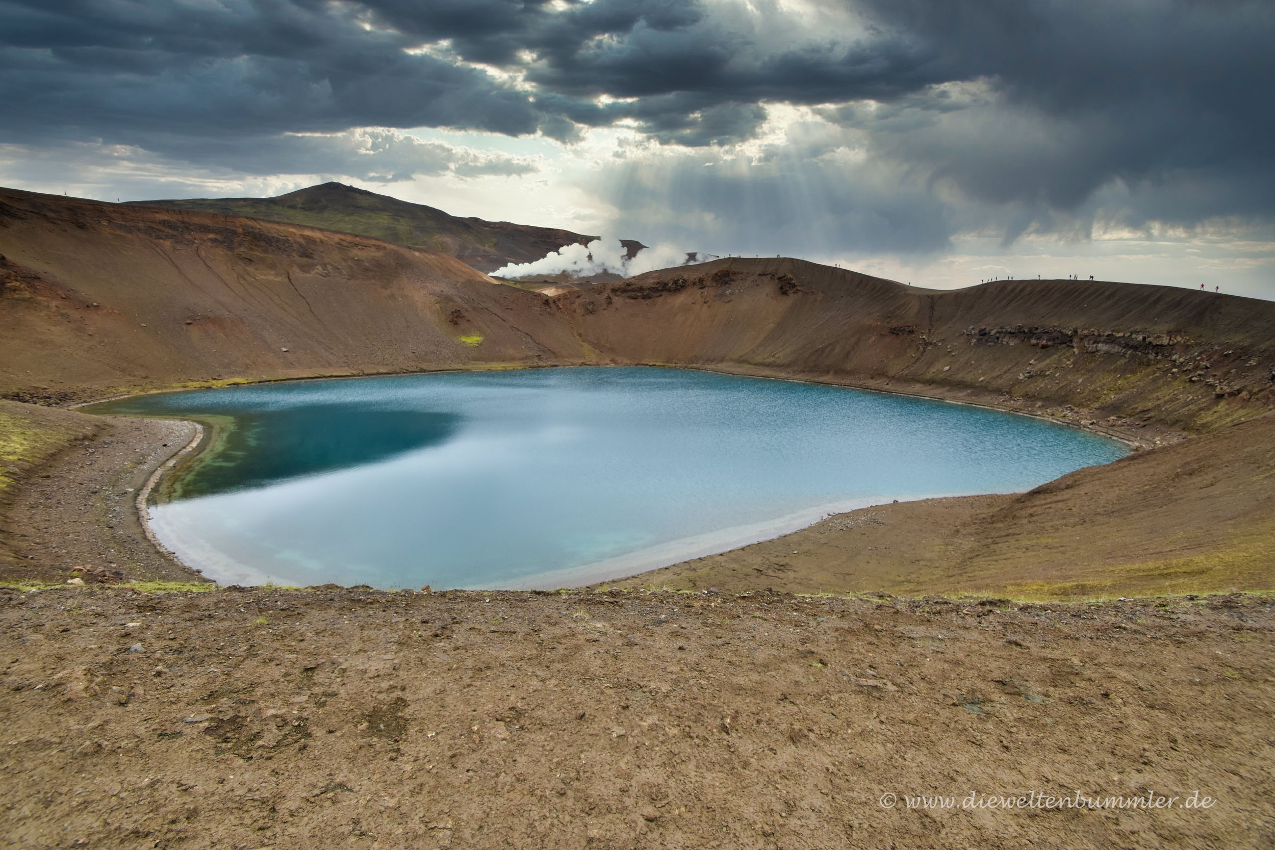 Der Víti-See ist Teil von Krafla