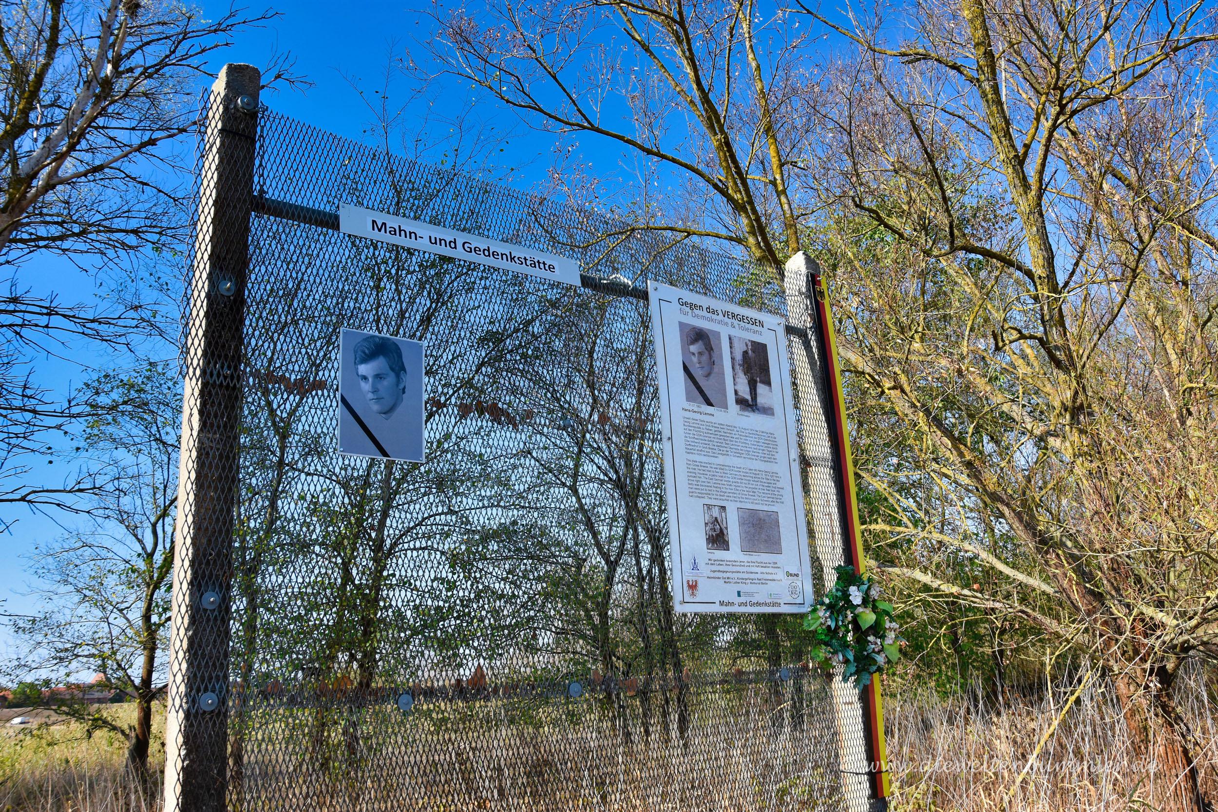 Gedenkort an der ehemaligen Grenze