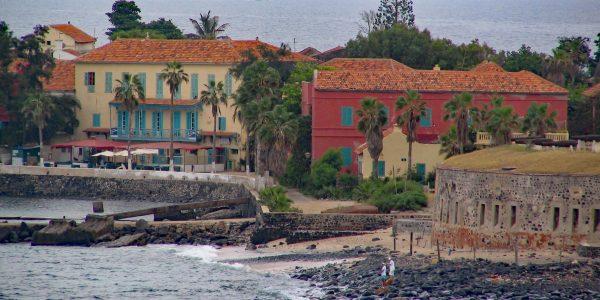 Kleiner Strand auf der Île de Gorée