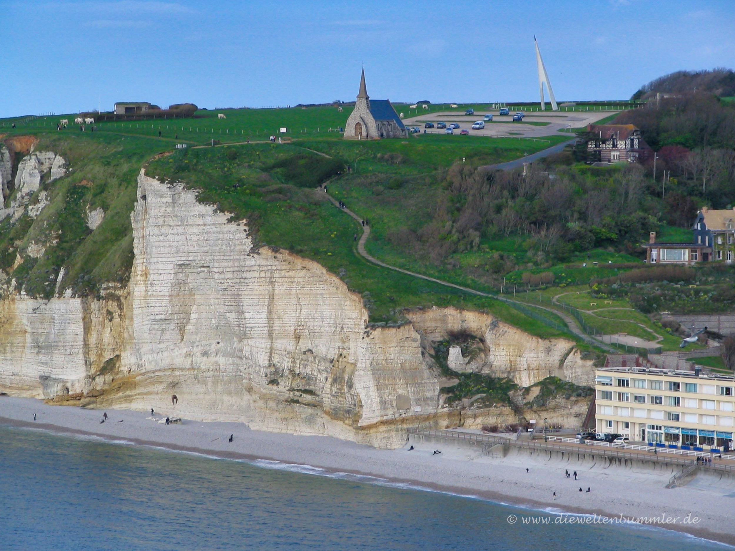 Kreideküste in Frankreich