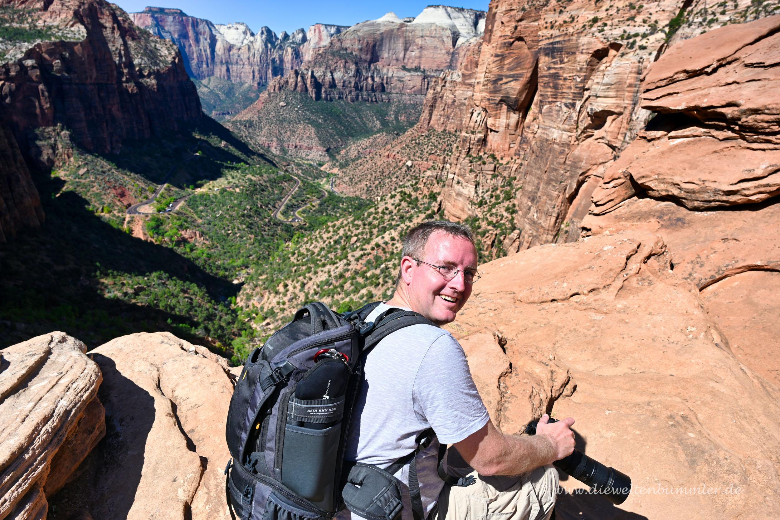 Michael Moll im Zion Nationalpark
