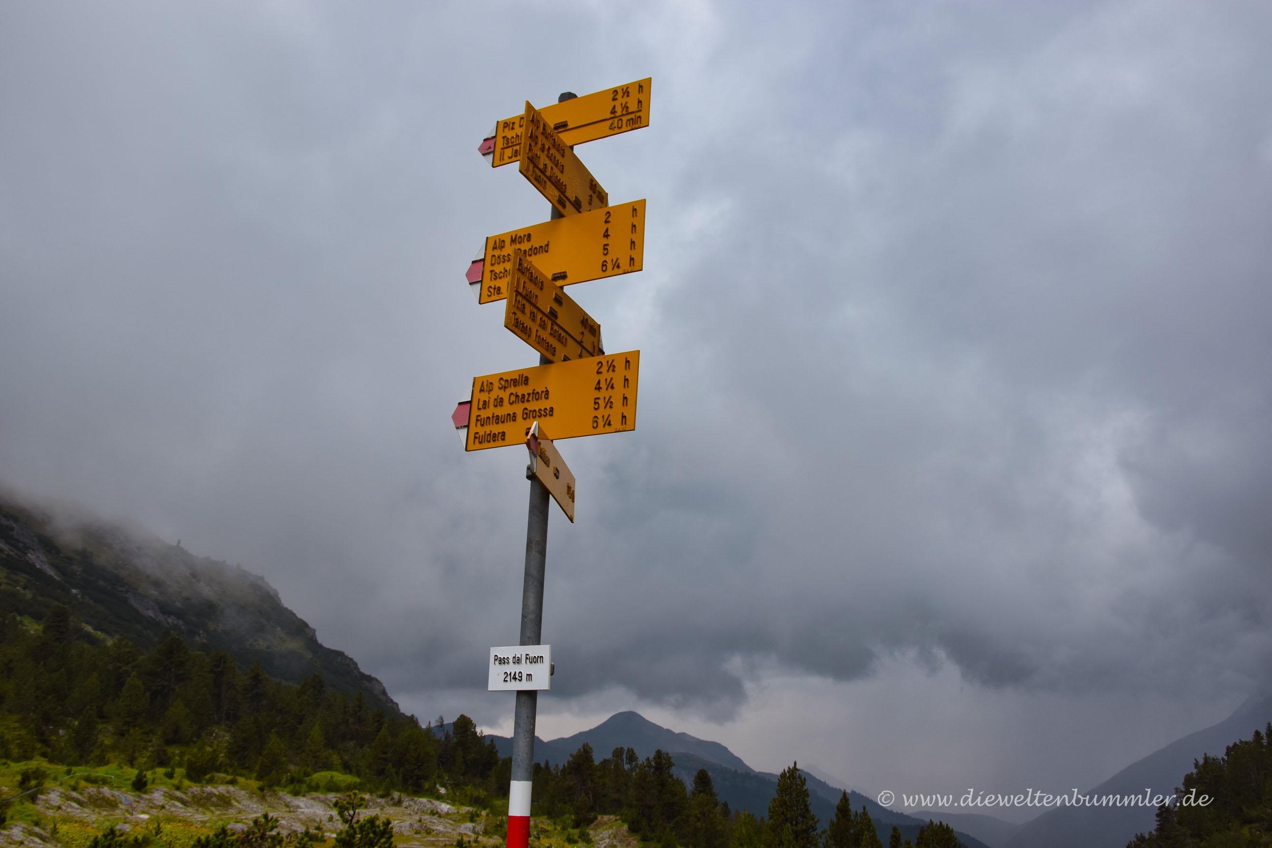 Wanderwege am Ofenpass