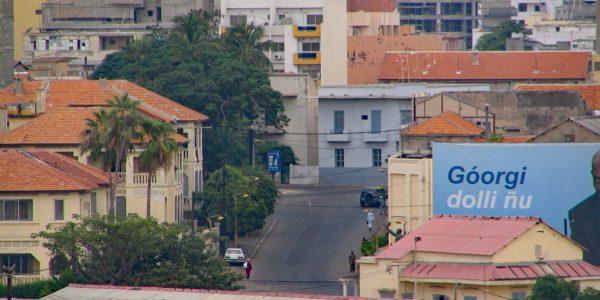 Straße am Bahnhof von Dakar