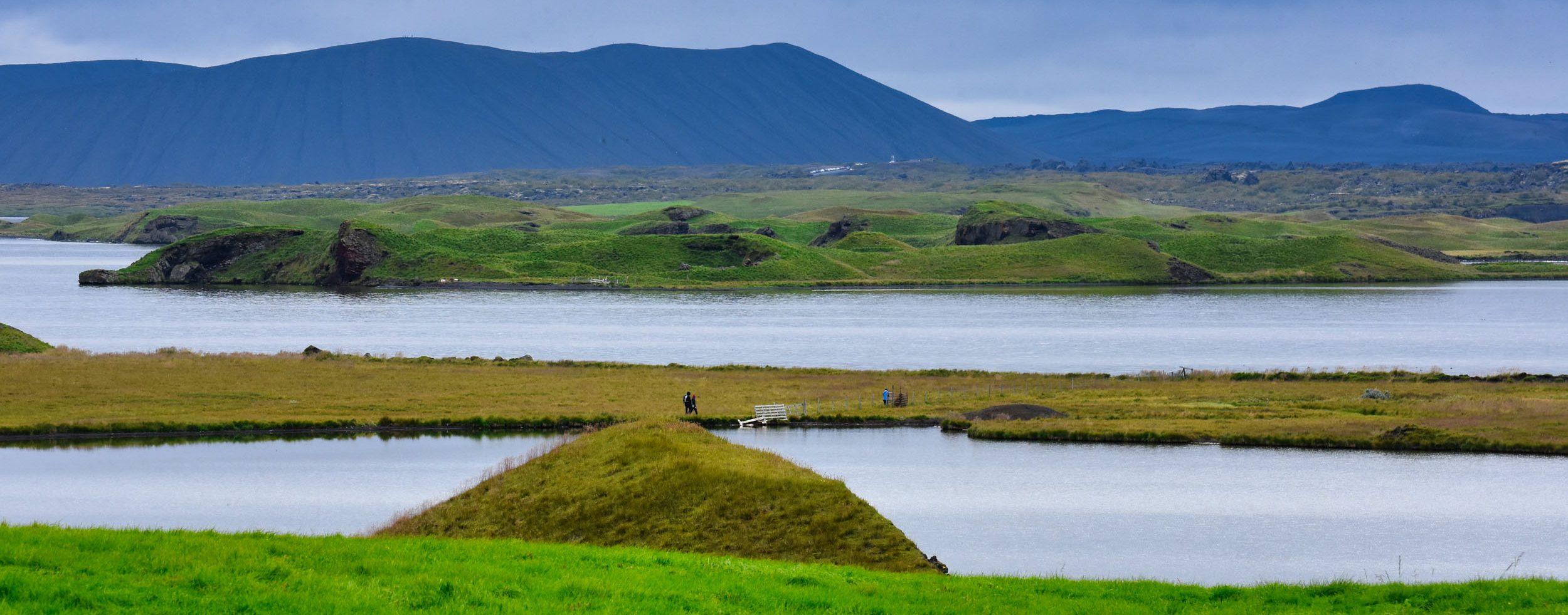 Wanderung bei Skútustaðagígar