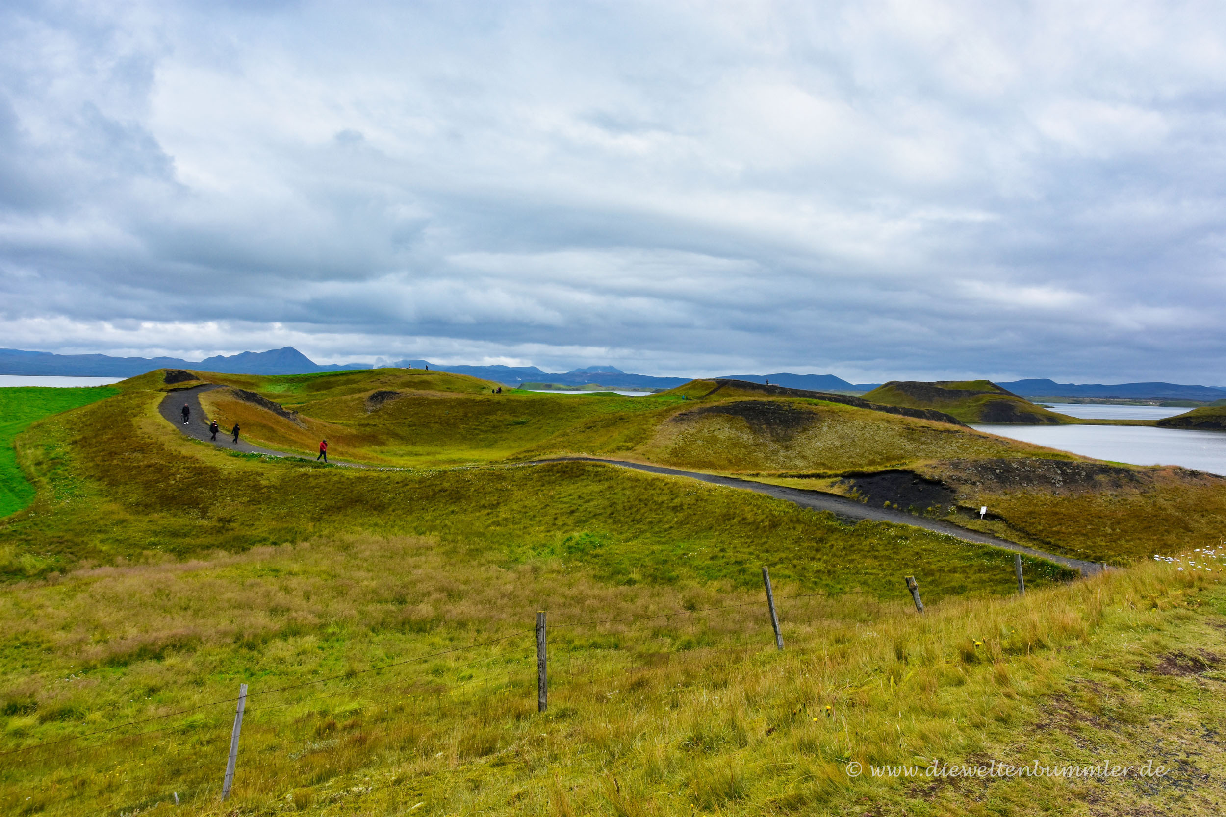 Wanderweg in Skútustaðagígar