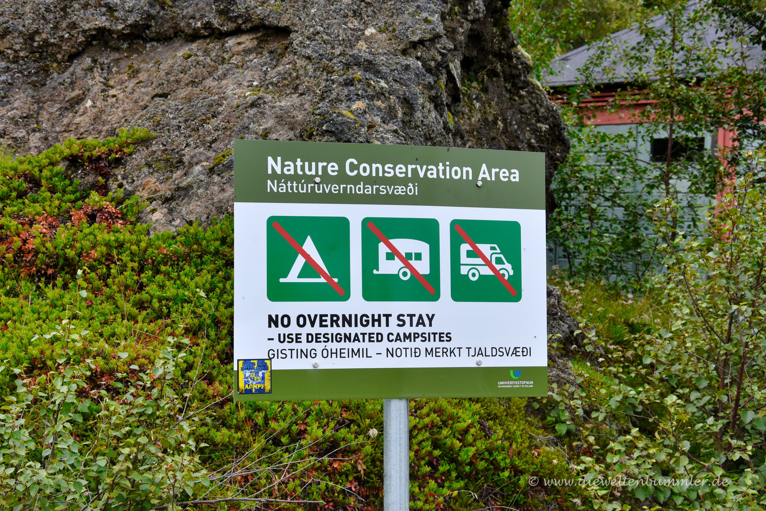 Wild campen verboten