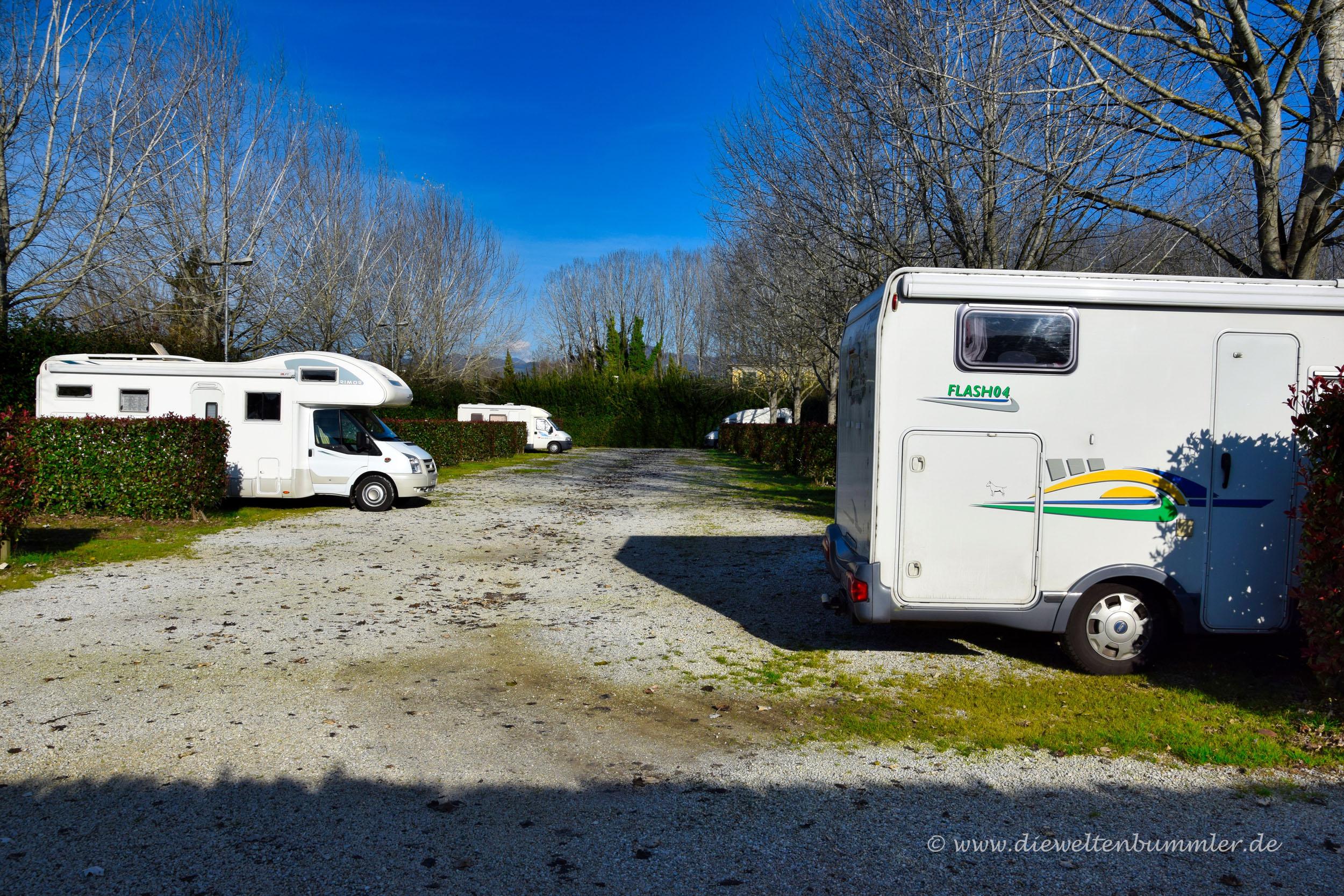 Wohnmobilstellplatz in Lucca