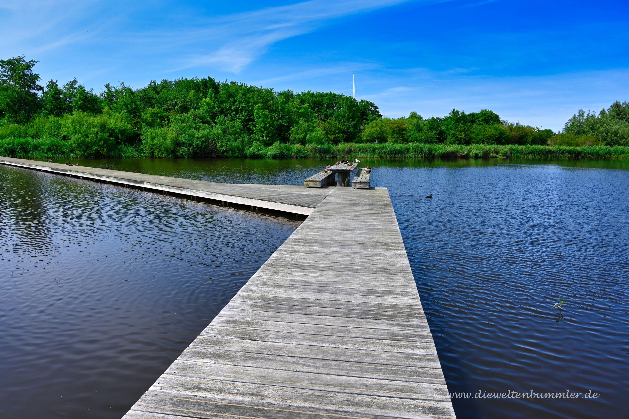 Steg über einem See