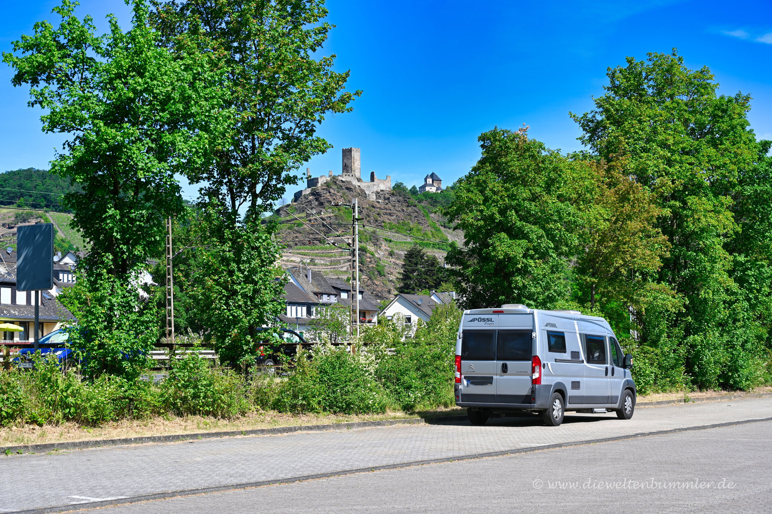 Stellplatz unterhalb der Burg Kobern