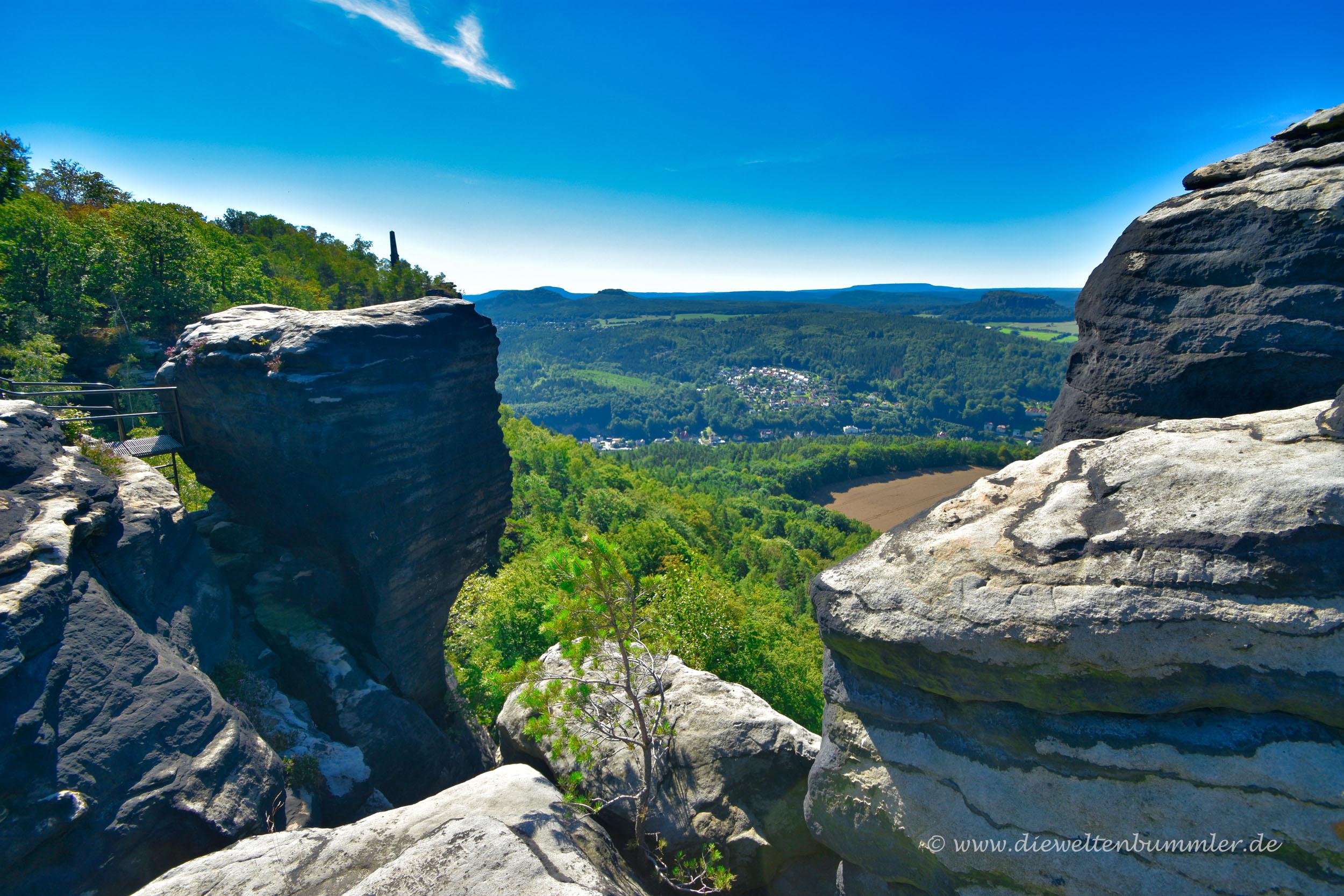 Auf dem Gipfel des Lilienstein