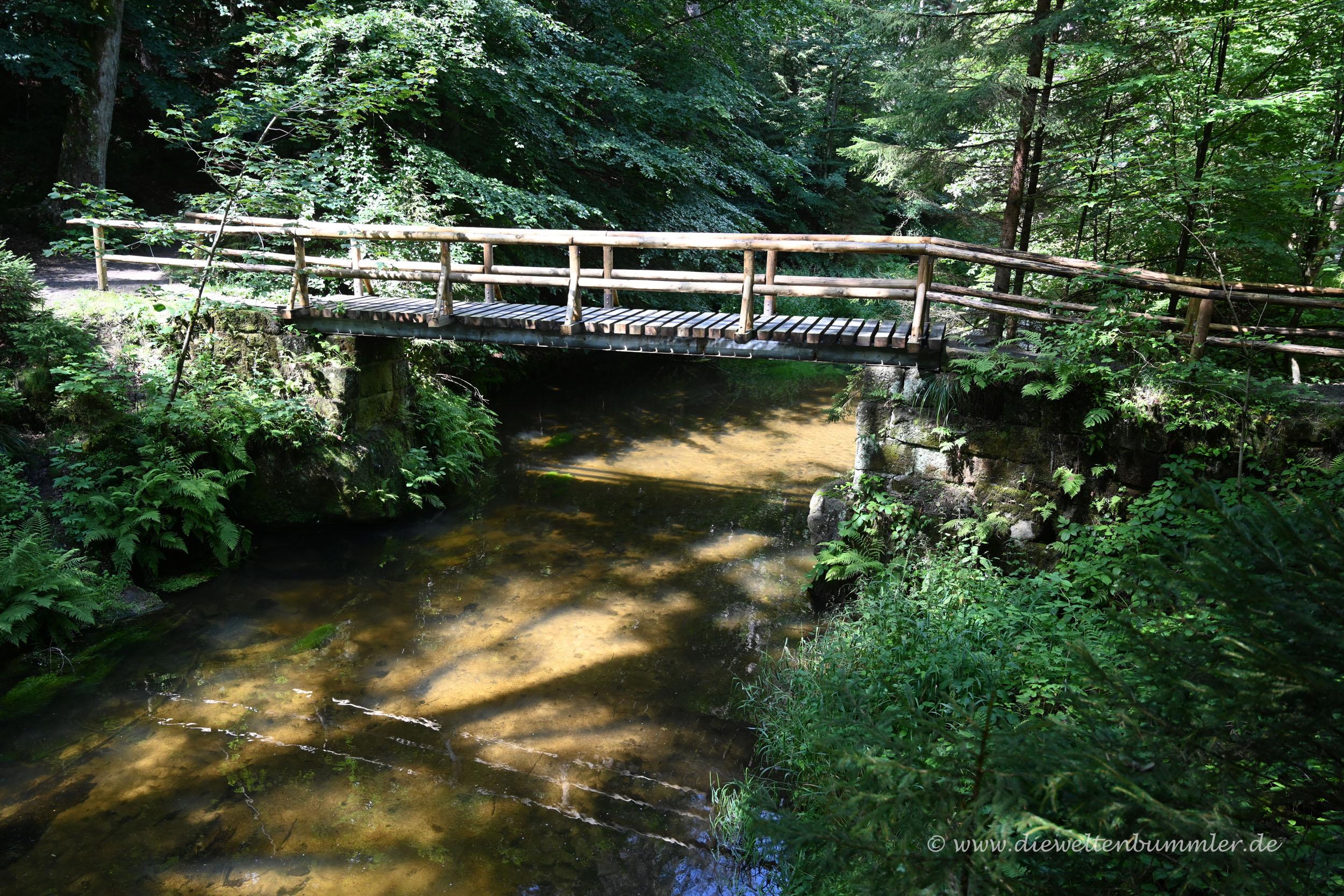 Brücke im Kirnitzschtal
