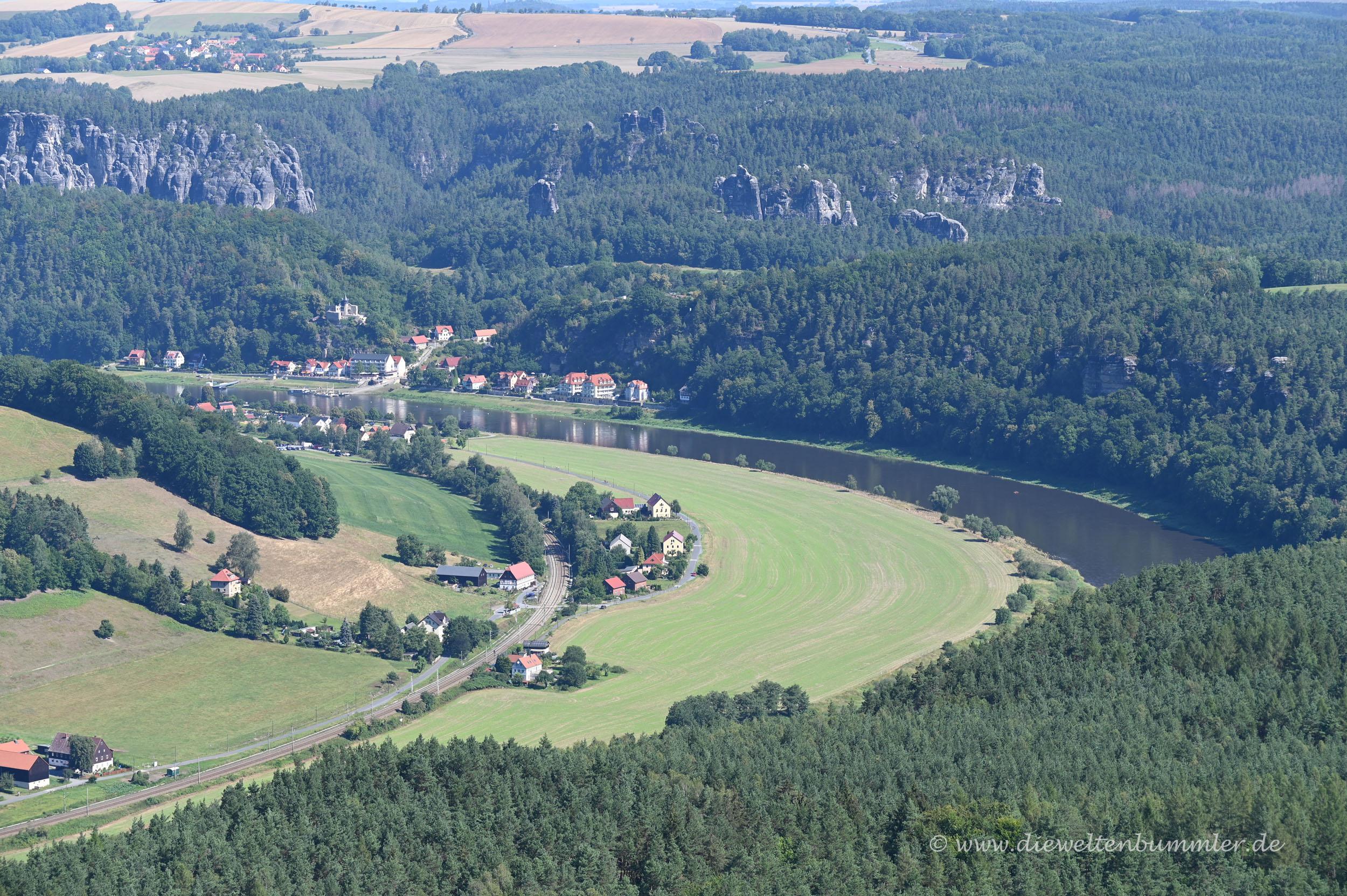 Die Elbe in ihrem Tal