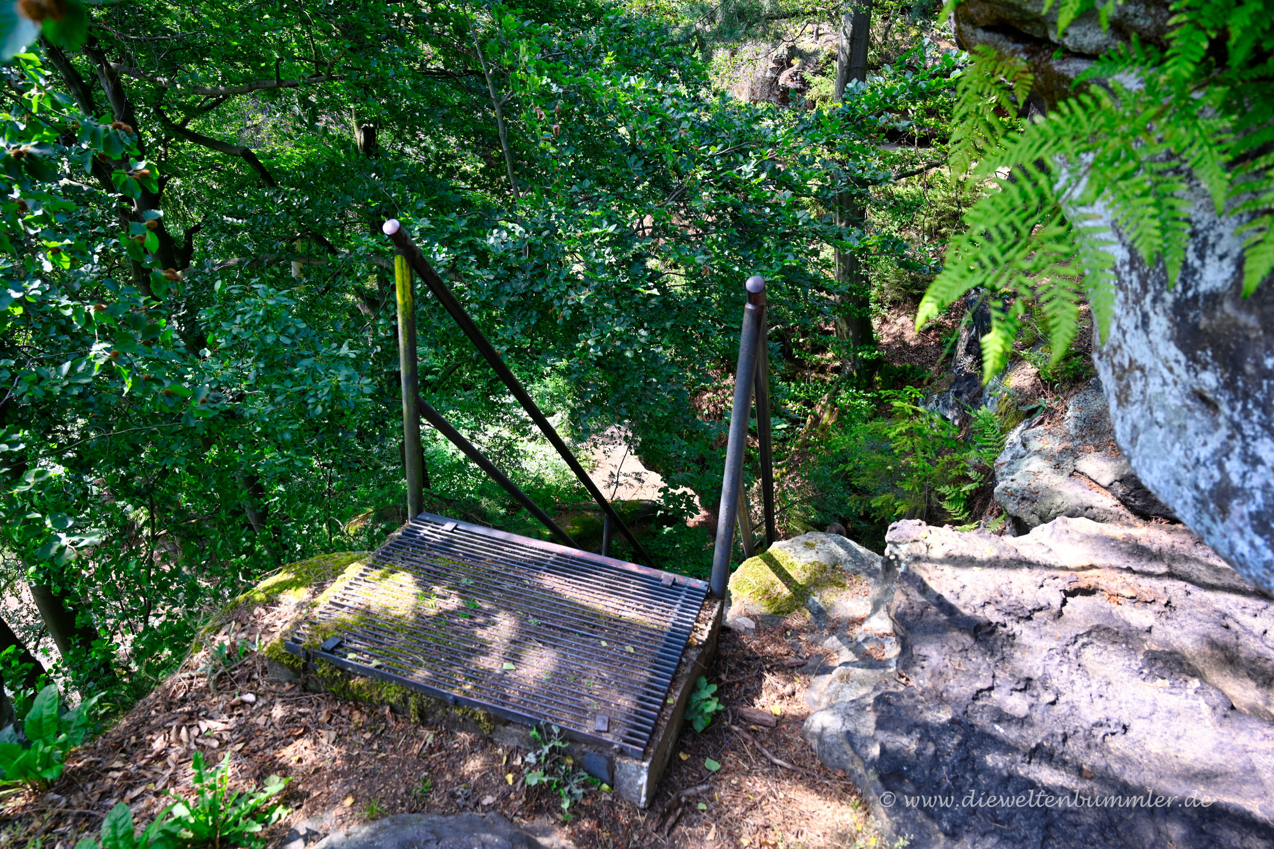 Eine der vielen Treppen