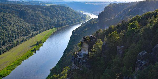 Elbe unterhalb der Bastei