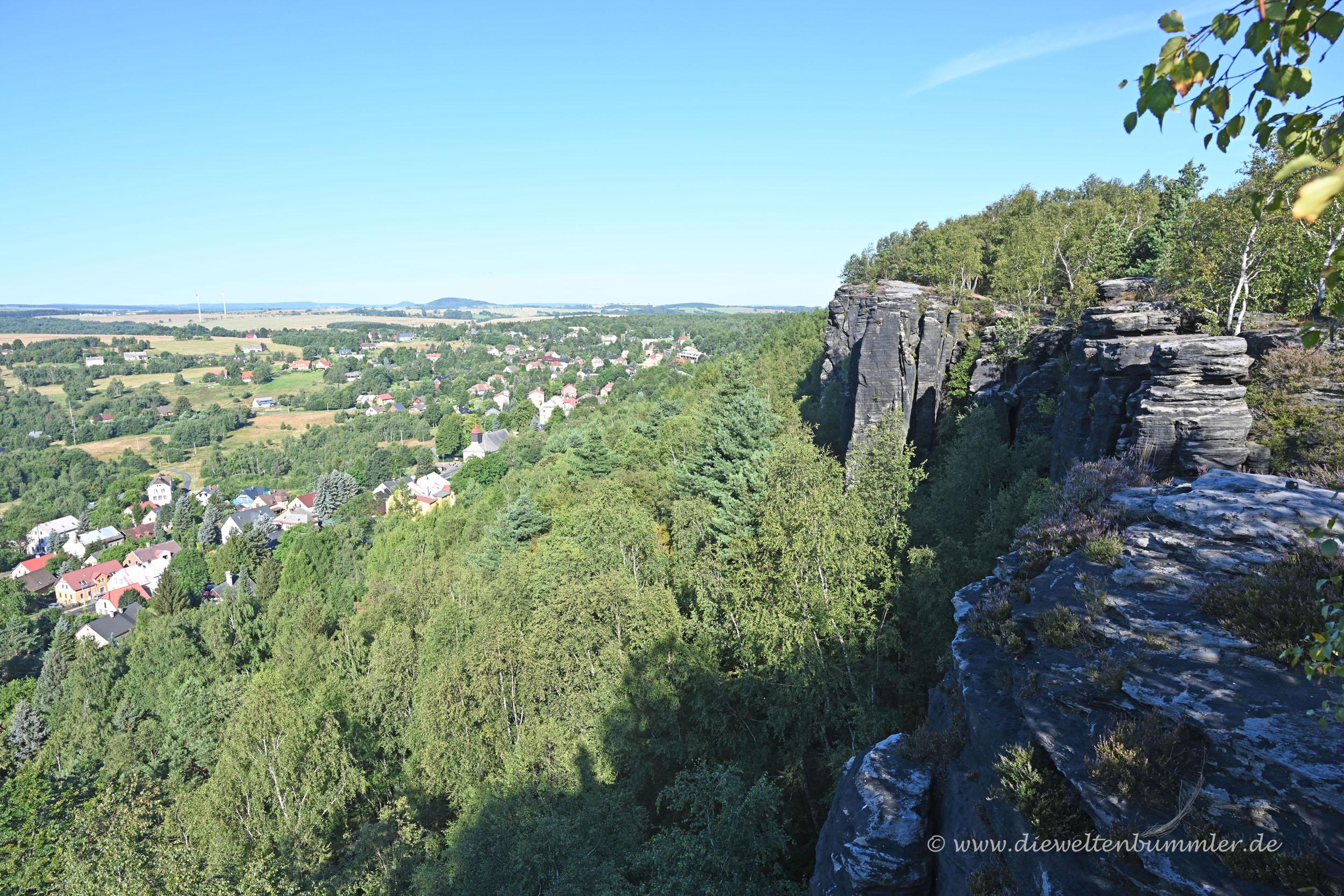 Felsen an den Tyssaer Wänden
