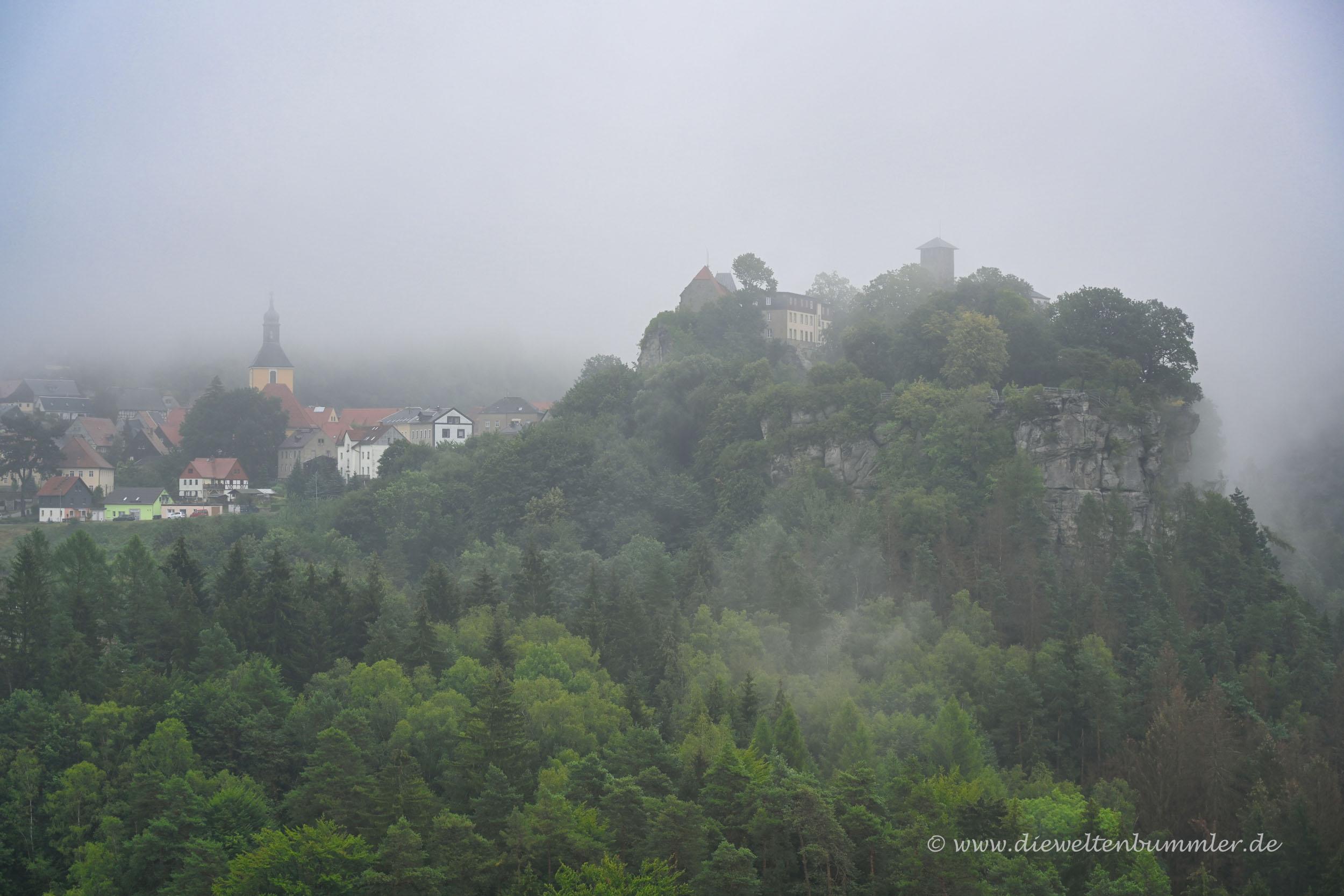 Hohnstein im Nebel