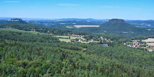Königstein und Lilienstein