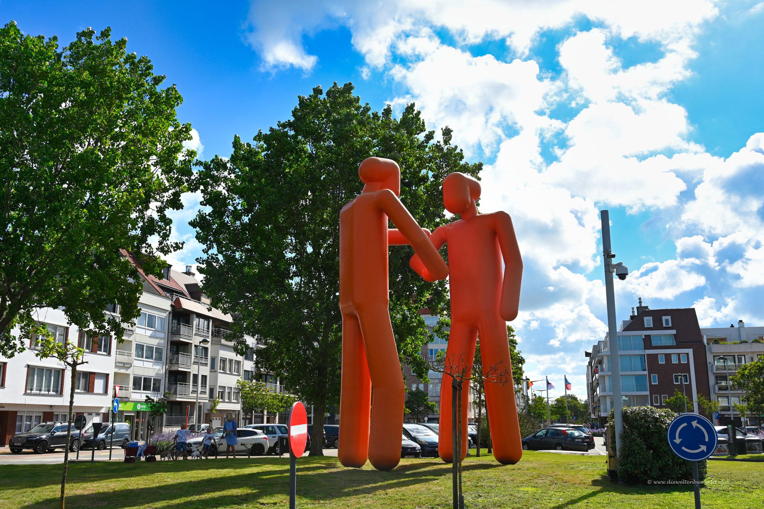 Kreisverkehr in Knokke