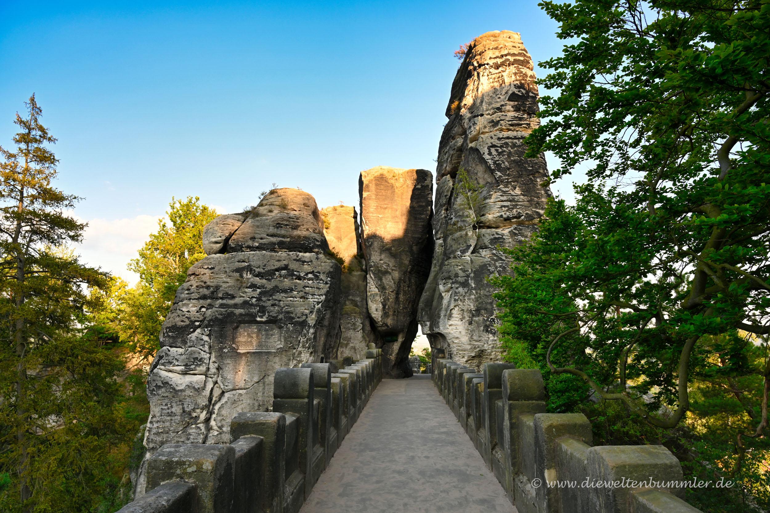 Leere Basteibrücke - selten