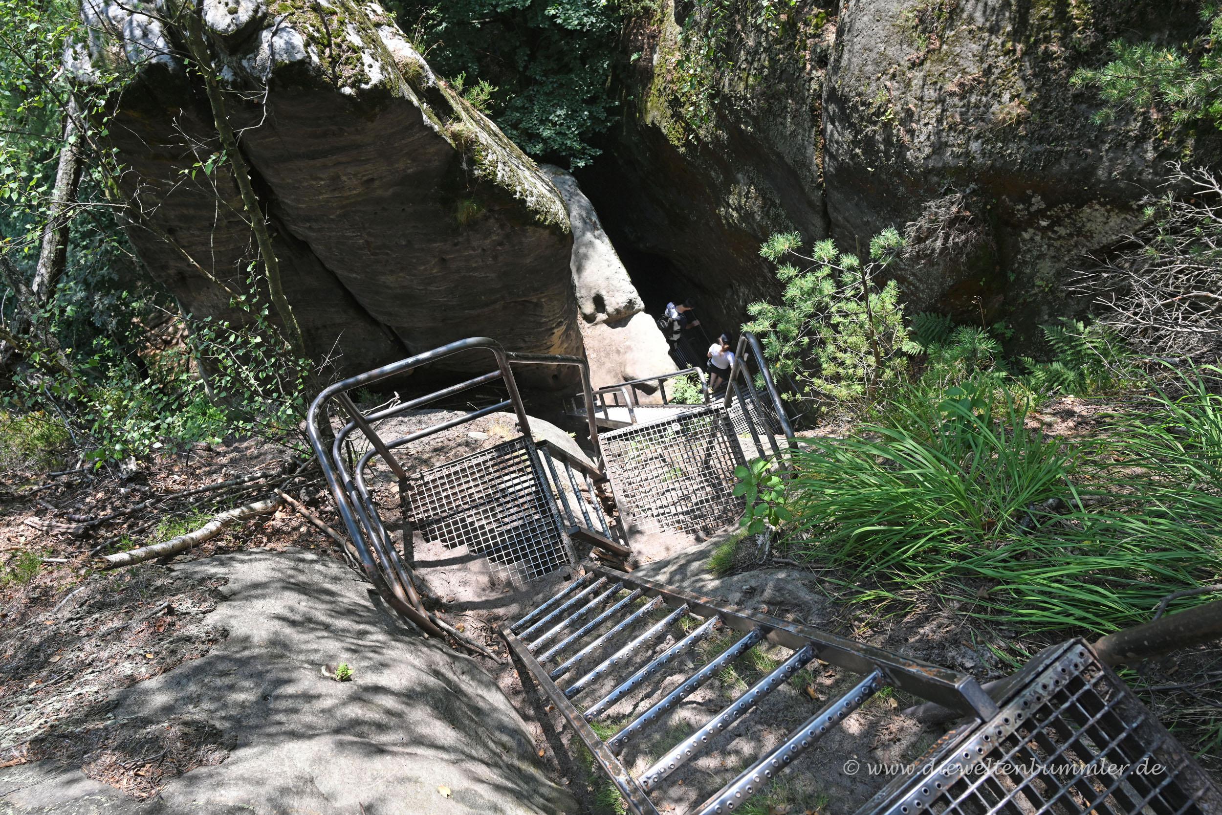 Leitern und Treppen am Gohrisch