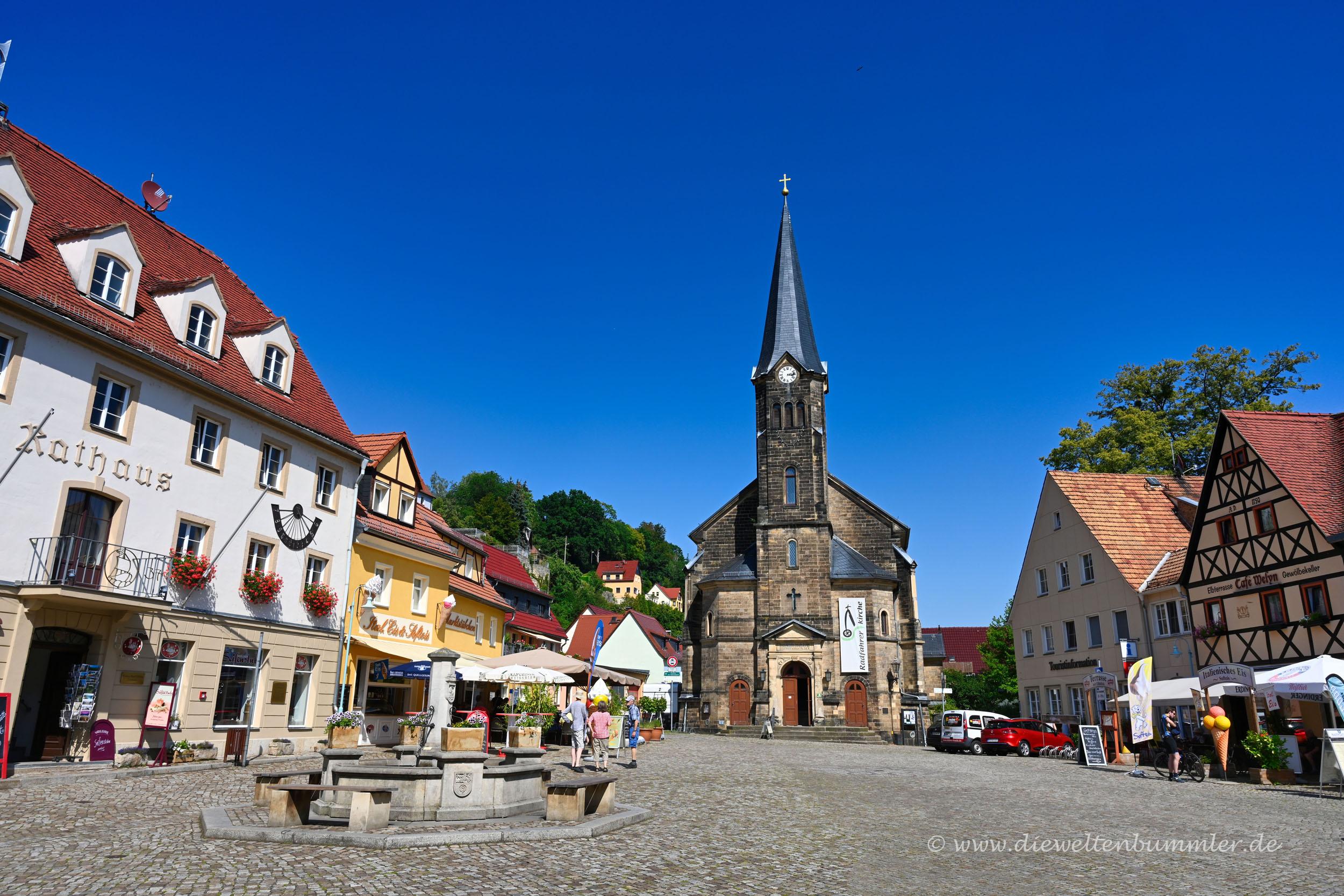 Marktplatz in Stadt Wehlen