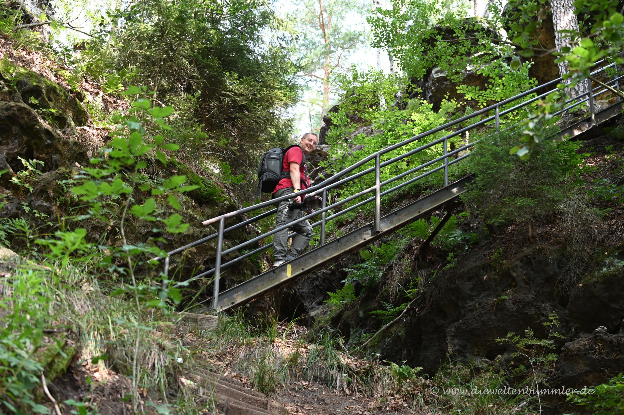 Michael Moll beim Wandern