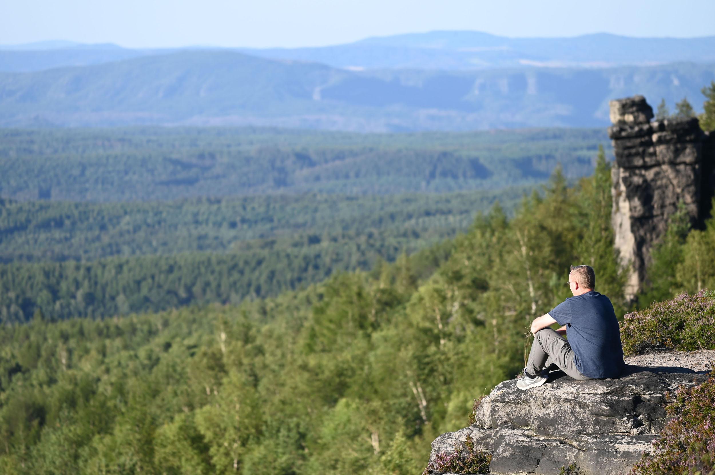 Michael Moll im Elbsandsteingebirge