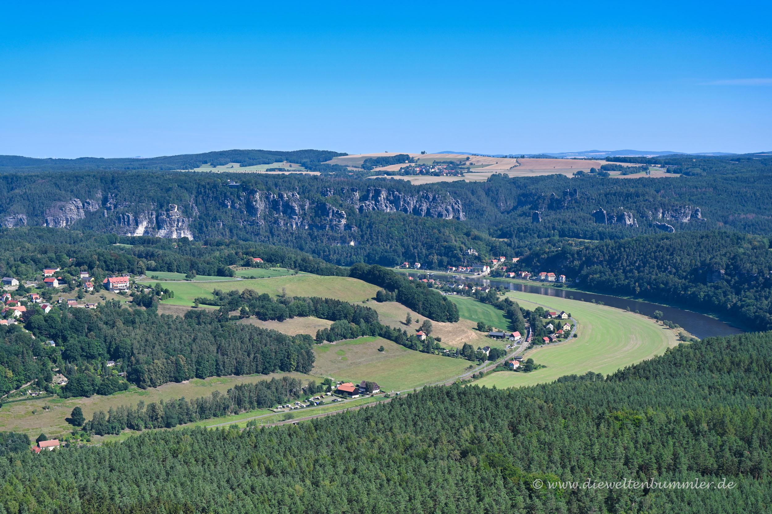 Sicht vom Lilienstein