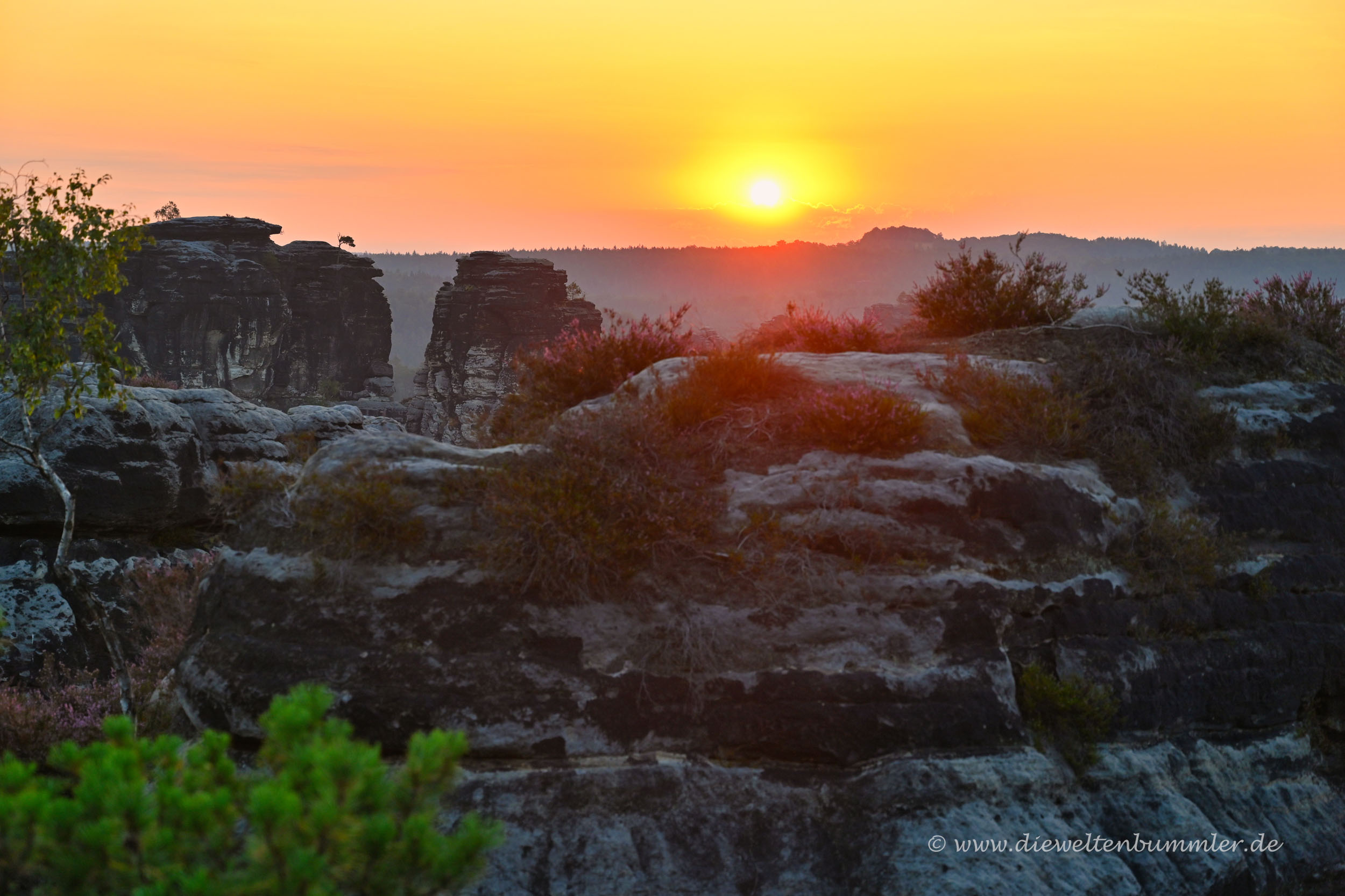 Sonne über der Bastei