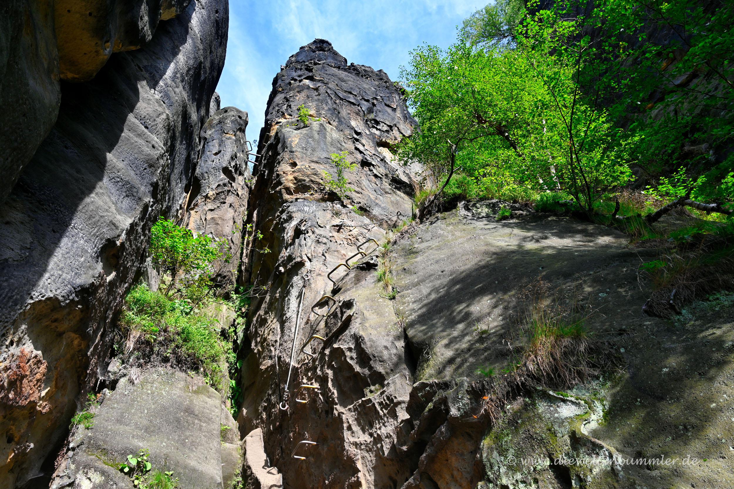 Stiege zum Klettern