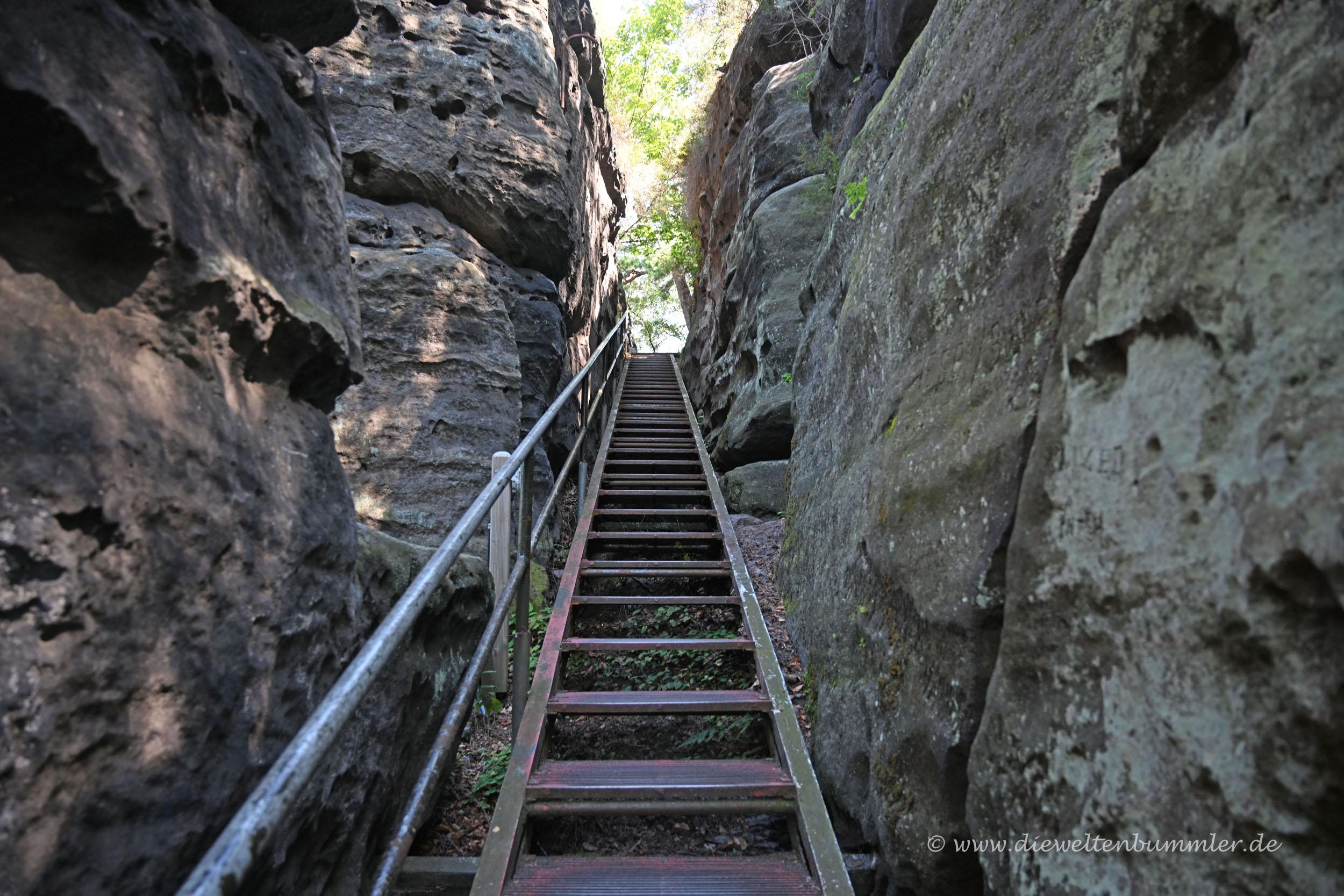 Treppe zum Papststein