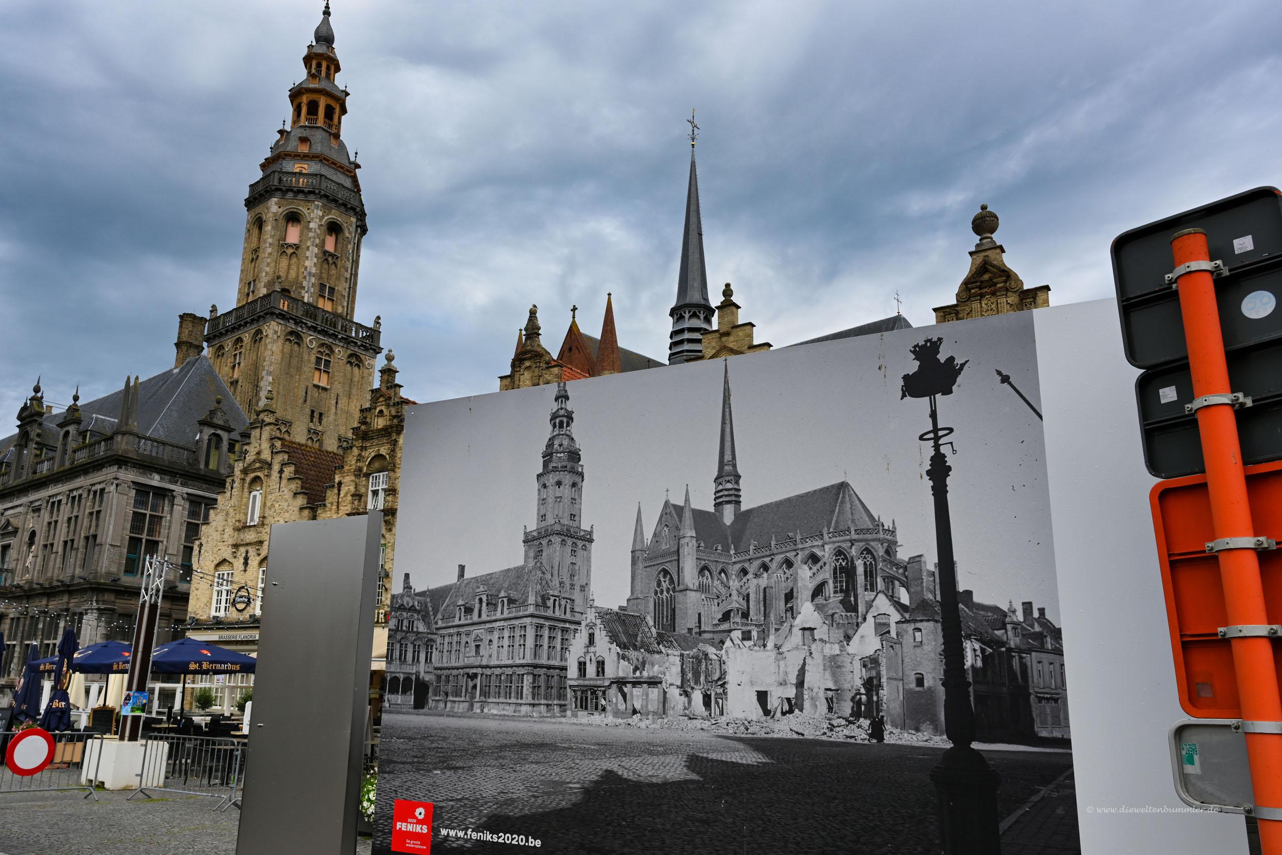 Vergleichsbild vom Ersten Weltkrieg