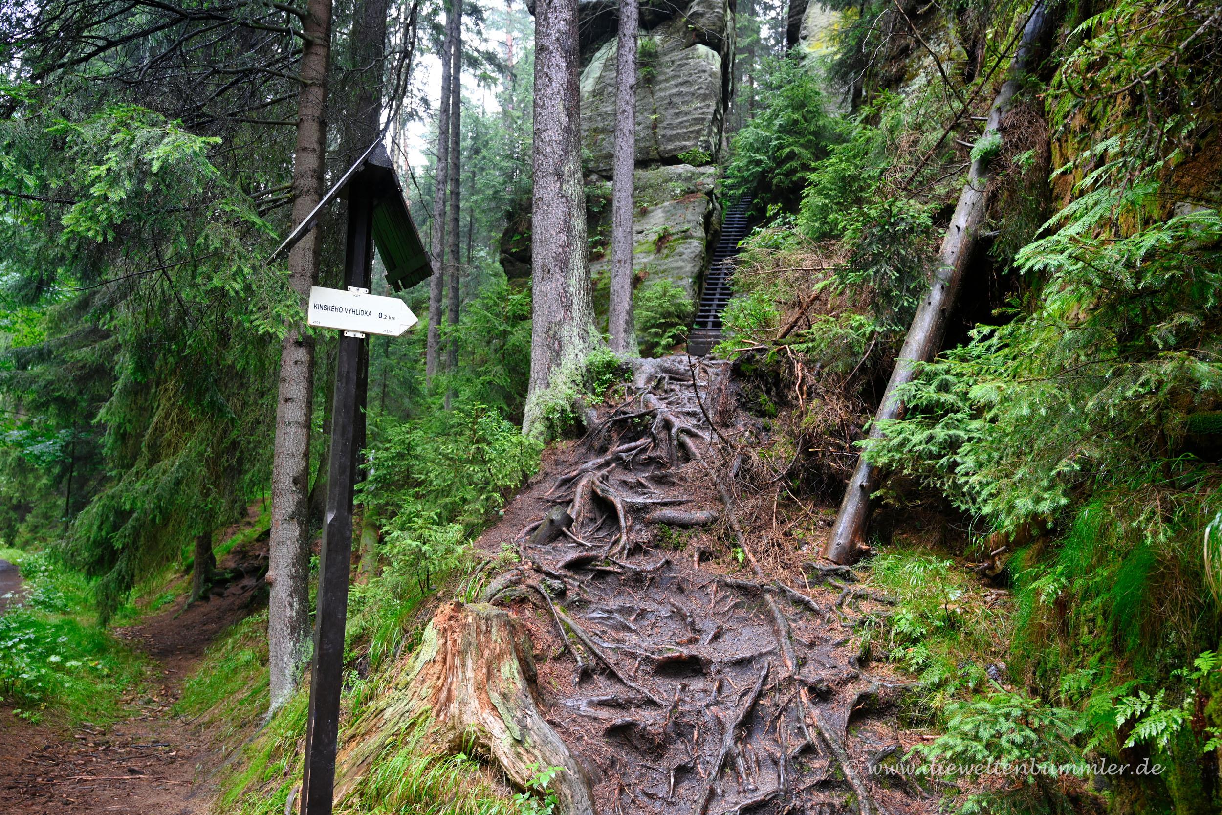 Wanderweg in Tschechien