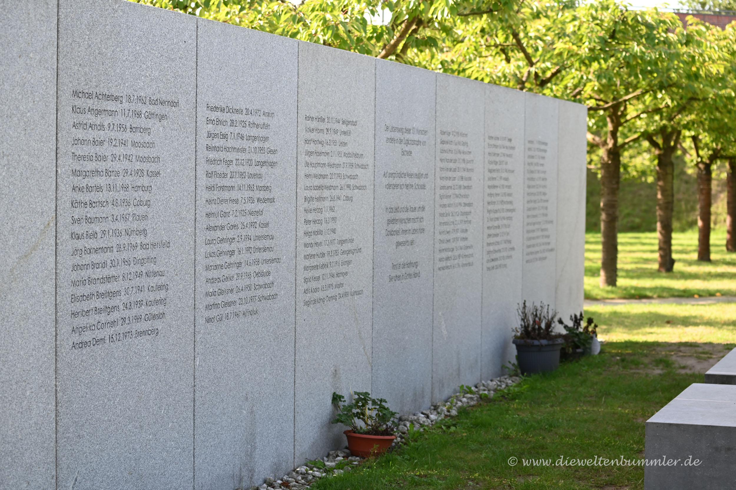 Gedenkstätte für das ICE-Unglück