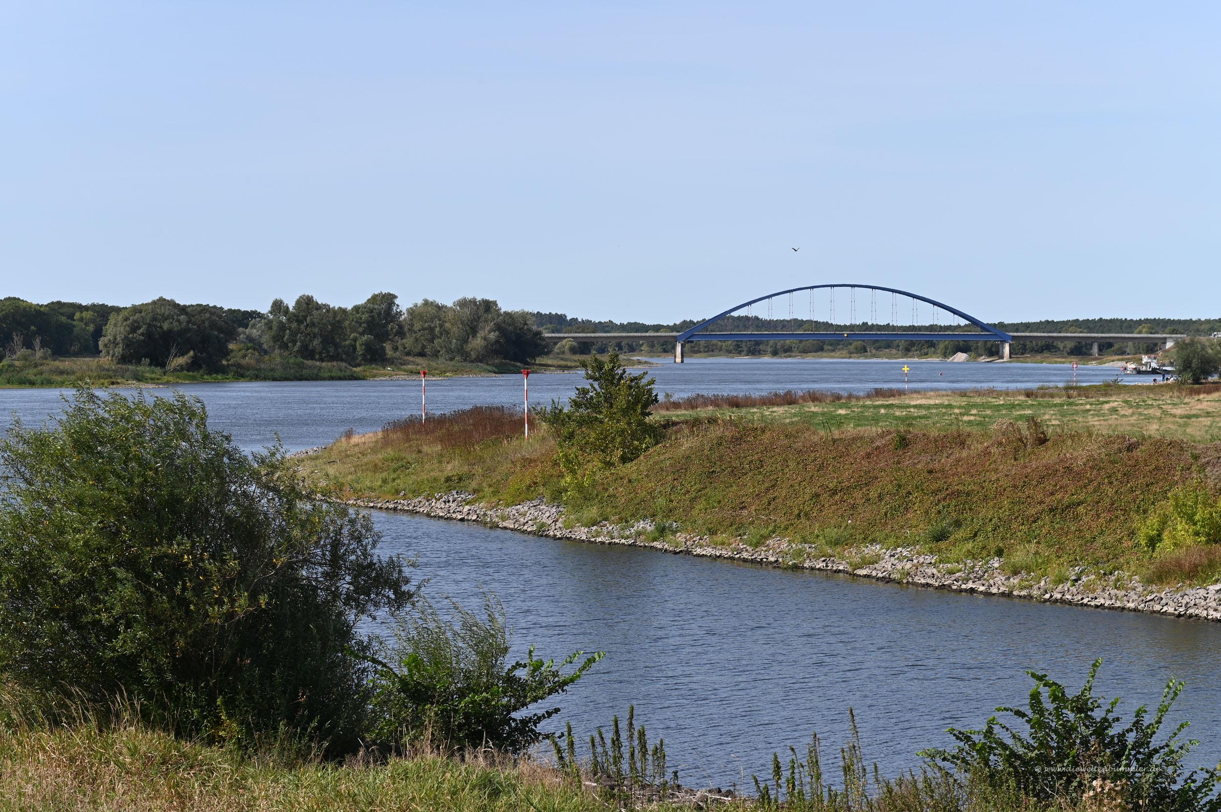 Mündung der Elde in die Elbe