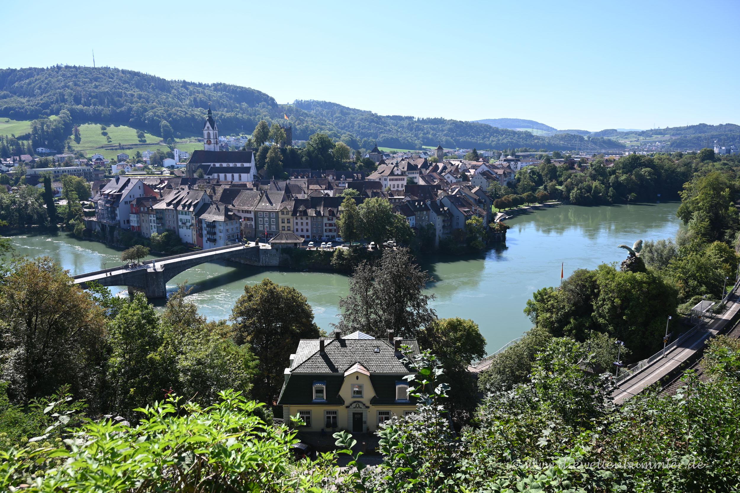 Ausblick auf den Rhein bei Laufenburg