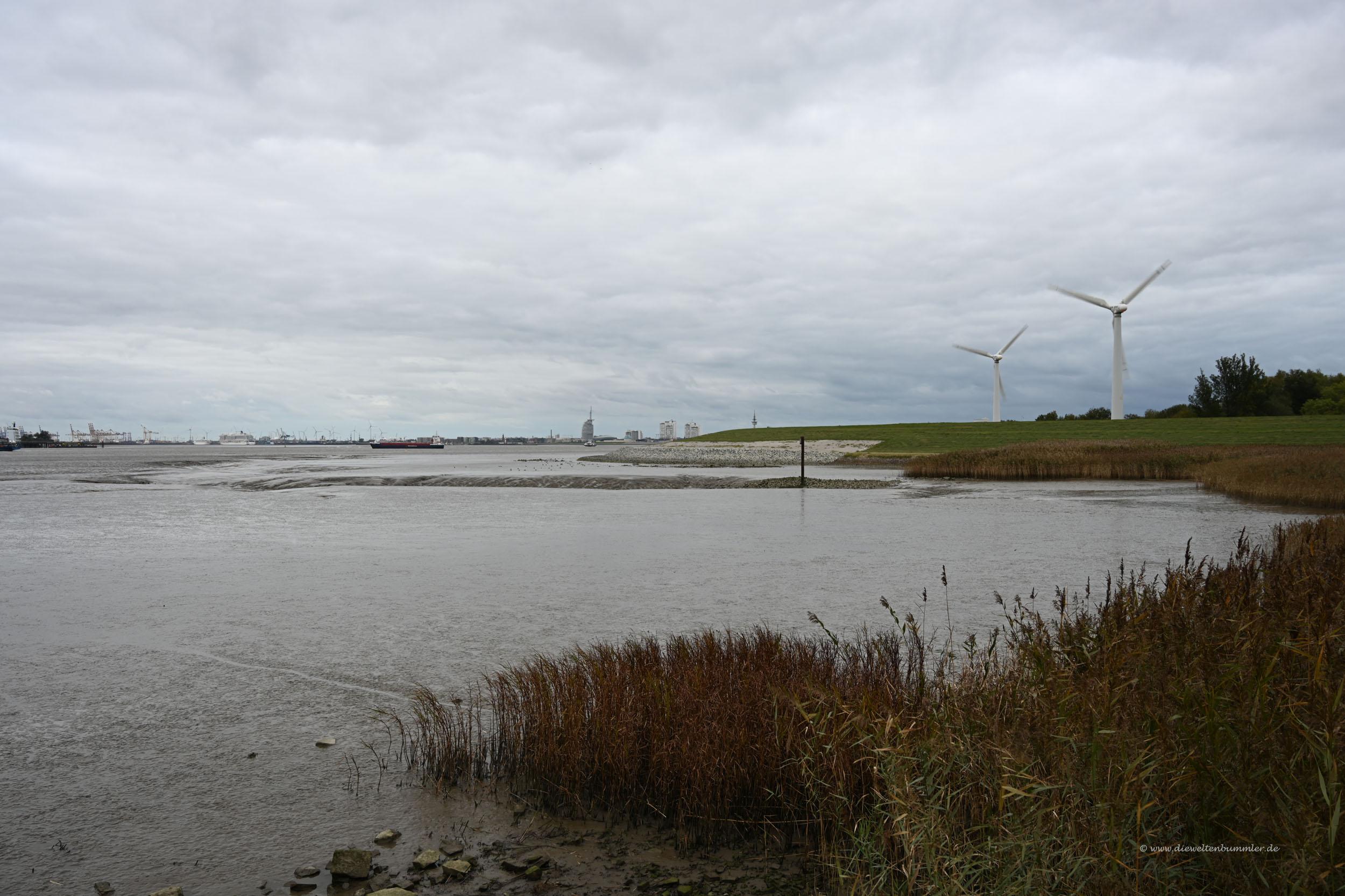Blick entlang der Weser