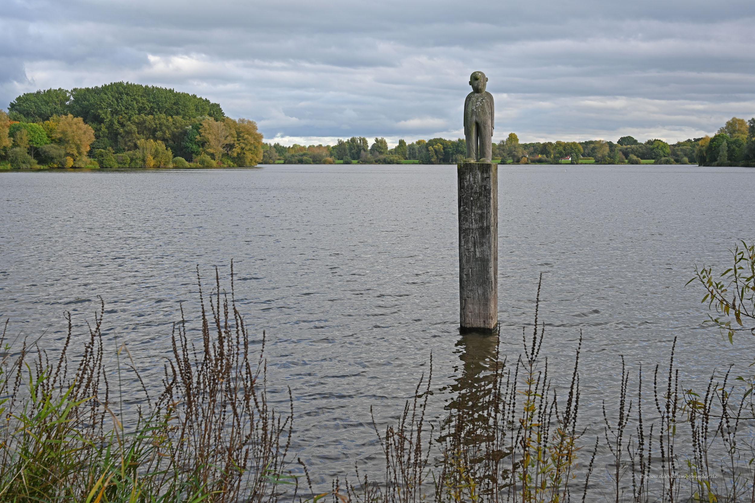 Skulptur im Vörder See
