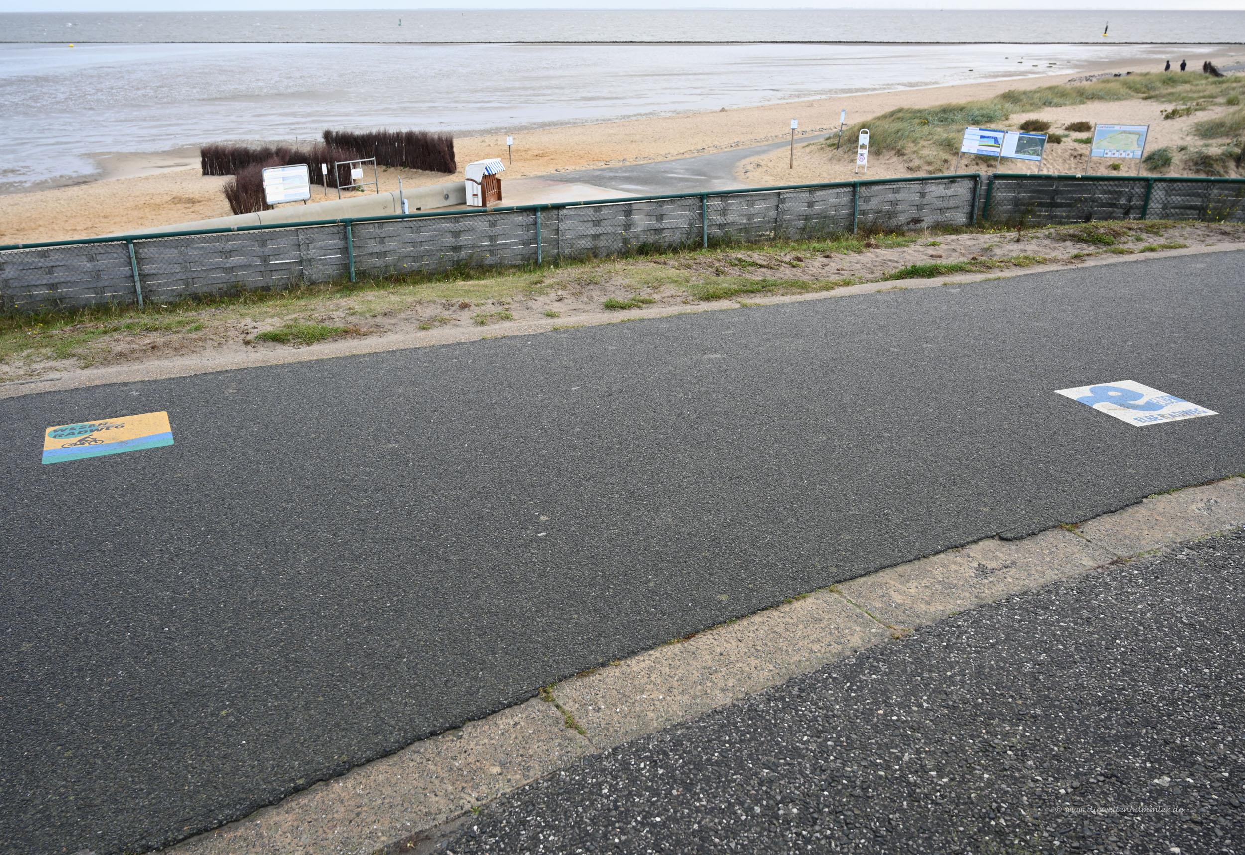 Zwei Radwege treffen sich